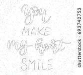 you make my heart smile  ... | Shutterstock .eps vector #693742753