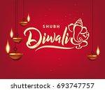 happy diwali  vector... | Shutterstock .eps vector #693747757