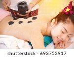 selective focus at  the masseur ... | Shutterstock . vector #693752917