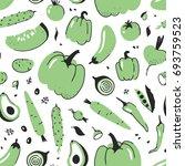 hand drawn seamless pattern... | Shutterstock .eps vector #693759523