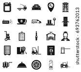 loader icons set. simple set of ... | Shutterstock .eps vector #693762013