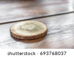 wooden beer or coffee  coasters ... | Shutterstock . vector #693768037