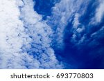 blue sky and white cloud | Shutterstock . vector #693770803