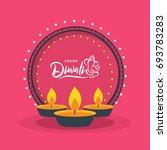 happy diwali  vector... | Shutterstock .eps vector #693783283