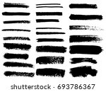 painted grunge stripes set.... | Shutterstock .eps vector #693786367