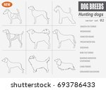 hunting dog breeds set icon... | Shutterstock .eps vector #693786433