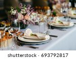 table served for special... | Shutterstock . vector #693792817