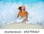 Young Girl Having Fun In The...