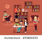 bibliotheca  school library... | Shutterstock . vector #693800353