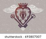 ornate mystic key hole inside... | Shutterstock .eps vector #693807007
