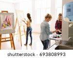 creativity  education and... | Shutterstock . vector #693808993