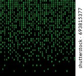 binary code green and dark... | Shutterstock .eps vector #693815377