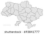 map of ukraine by regions.  | Shutterstock .eps vector #693841777