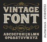 vintage label font. whiskey...   Shutterstock . vector #693845053