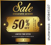luxury gold sale banner template | Shutterstock .eps vector #693845107