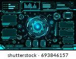 futuristic interface technology ... | Shutterstock .eps vector #693846157