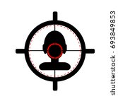 sniper scope crosshair aiming... | Shutterstock .eps vector #693849853