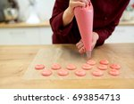 cooking  baking and people... | Shutterstock . vector #693854713