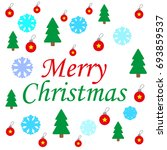 christmas icon | Shutterstock .eps vector #693859537