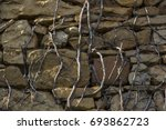 an old fashioned clay stone... | Shutterstock . vector #693862723