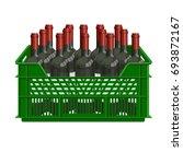 bottles of wine in plastic...   Shutterstock .eps vector #693872167