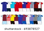 english football kits set. 2017 ... | Shutterstock .eps vector #693878527