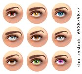 colorful eyes with different... | Shutterstock .eps vector #693879877
