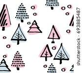 scandinavian seamless pattern...   Shutterstock .eps vector #693885487