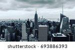 top of the rock   b w   empire... | Shutterstock . vector #693886393