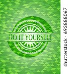 do it yourself green mosaic... | Shutterstock .eps vector #693888067