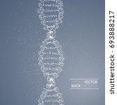 dna molecule back | Shutterstock .eps vector #693888217