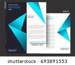 vector business flyer  magazine ... | Shutterstock .eps vector #693891553