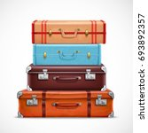 classic leather retro travel... | Shutterstock .eps vector #693892357