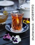 Black Tea In Traditional...