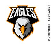furious eagle head athletic...   Shutterstock .eps vector #693912817