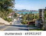 view of jurere and jurere beach ... | Shutterstock . vector #693921937