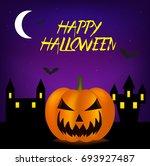 background happy halloween | Shutterstock .eps vector #693927487