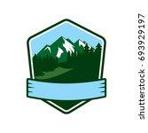 mountain forest logo | Shutterstock .eps vector #693929197
