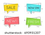 trendy flat geometric speech... | Shutterstock .eps vector #693931207