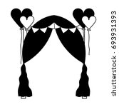 contour married decoration with ... | Shutterstock .eps vector #693931393