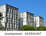 modern apartment building... | Shutterstock . vector #693931447