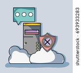 system data center information... | Shutterstock .eps vector #693933283