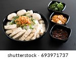 vietnamese noodles  pho  on the ... | Shutterstock . vector #693971737