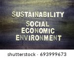 sustainability and social ... | Shutterstock . vector #693999673