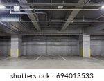 parking garage underground... | Shutterstock . vector #694013533