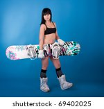 young athletic girl  with... | Shutterstock . vector #69402025