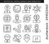 artificial intelligence and... | Shutterstock .eps vector #694023463
