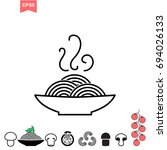 italian pasta and pizza vector... | Shutterstock .eps vector #694026133