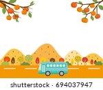 Autumn Bus Tour Vector...
