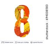 autumn fall bright orange... | Shutterstock .eps vector #694038583